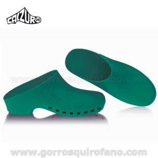 Zuecos Calzuro sin agujeros Verdes