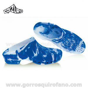 Zuecos Calzuro Fancy Azul
