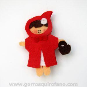 Broche Fieltro Caperucita Roja