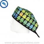 Gorro Quirofano Fantasmas Verdes