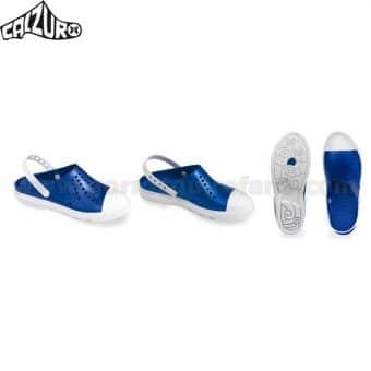 Zuecos Calzuro Buddy Azul Metalizado