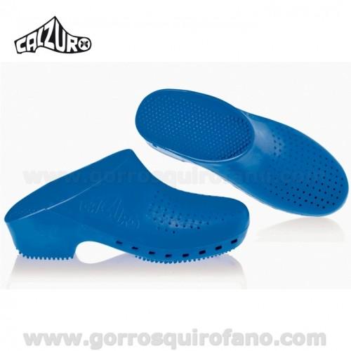 Zuecos Calzuro Azul