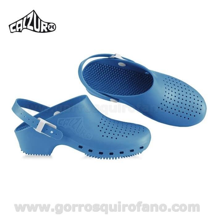 Gorros quirofano zuecos sanitarios calzuro con tira azul for Ofertas de sanitarios