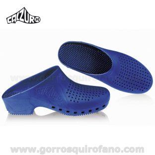 Zuecos Calzuro Azul Metalizado