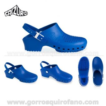 Zuecos Calzuro Azul con tiras