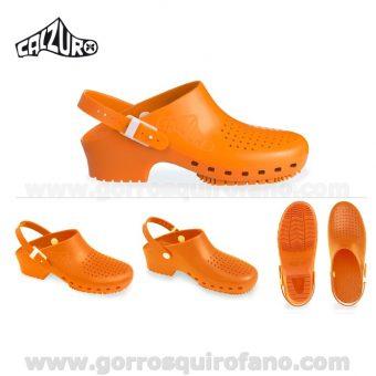 Zuecos Calzuro Naranja con tiras