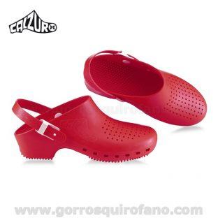 Zuecos Calzuro Rojo
