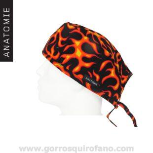 Gorros Quirofano Llamas Flames