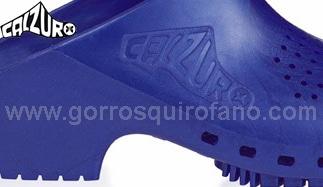 Zuecos Calzuro azul metalizado 2