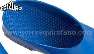 Zuecos Calzuro azul suela