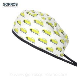 Gorros Quirofano 717 Coches amarillos