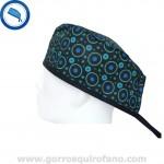 Gorros Quirofano 722 Circulos neon azul