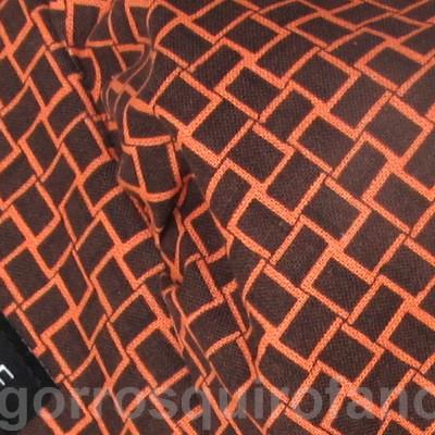 Gorros Quirofano Bouffant cuadros marrones naranjas