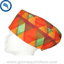 Gorros quirofano 236 Abstracto Naranja