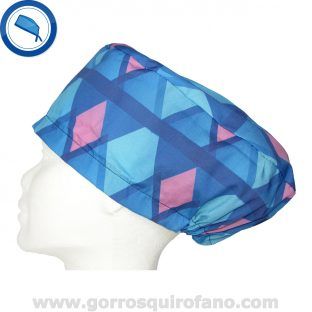 Gorros quirofano 237 Abstracto Azul