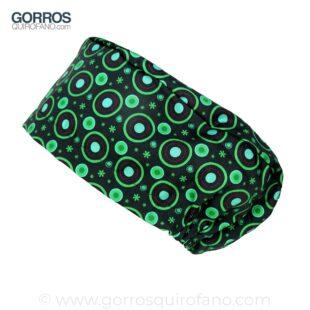 Gorros quirofano 239 Circulos neon verdes