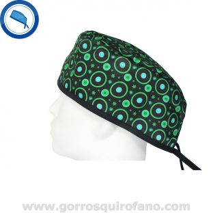 Gorros quirofano 723 circulos neon verde
