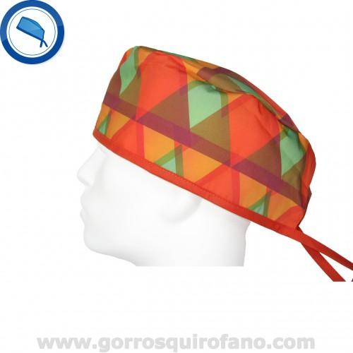 Gorros quirofano 728 naranja abstracto