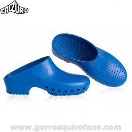Zuecos Sanitarios Azul
