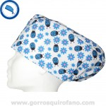 Gorros quirofano Tela Mariquitas Azules