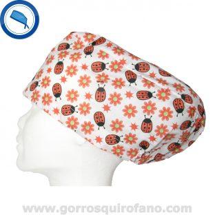 Gorros quirofano 252 Mariquitas Naranjas