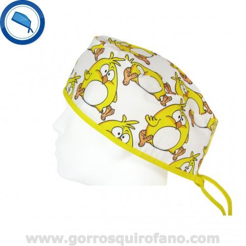 Gorros Quirofano Hombre 733 Pelo Corto Pollito Divertido Amarillo