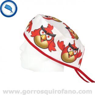 Gorros Quirofano Angry Rojo