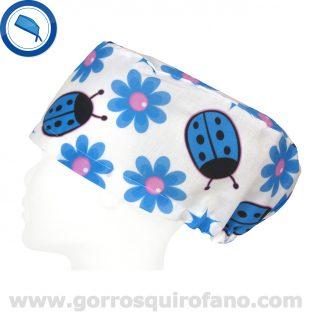 Gorros Quirofano Mariquitas Azules grandes