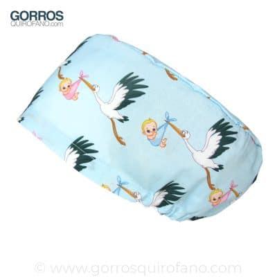 Gorros Quirofano Matronas Cigueñas Azul