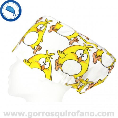 Gorros Quirofano Pollito Divertido amarillo
