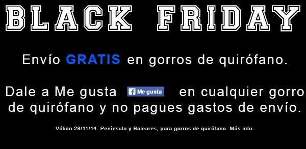 black friday gorros quirofano envio gratuito