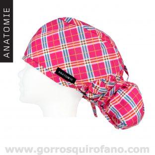 Gorros Quirofano ANATOMIE cuadros fuxias