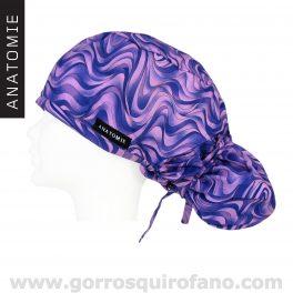 Gorros Quirofano ANATOMIE abstracto morado