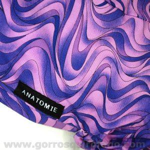 Gorros Quirofano ANATOMIE ANA1054 abstracto morado b