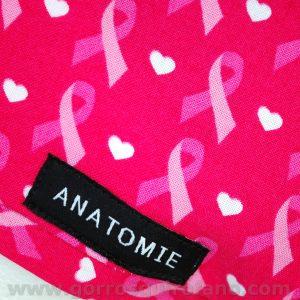 Gorros Quirofano ANATOMIE ANA1055 Lazo Cancer Fuxia - 2