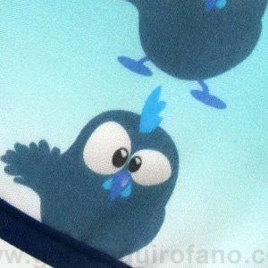 Gorros Quirofano Pollito Divertido Azul - 752a