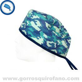 Gorros Cirujano Camuflaje Azulado