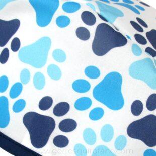 Gorros Estudiantes Veterinaria Huellas Perros Azules