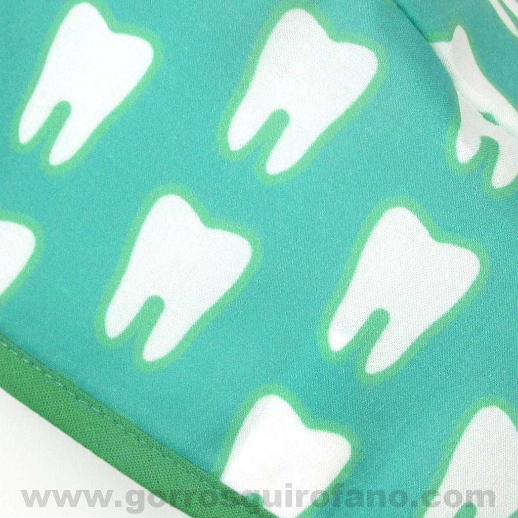 Gorros para Dentistas Muelas Verde