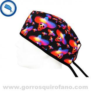 Gorros Quirurgicos Calaveras Colores Sombrero Mexicano