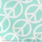 Gorros cirujanas Mujer Simbolo Paz Verde Menta