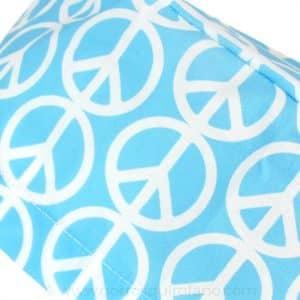 Gorros para cirugias simbolo paz azul