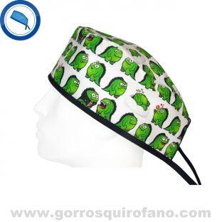 Gorros para quirofano divertidos monstruos verdes 784