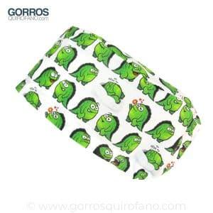 Gorros quirofano monstruos verdes divertidos