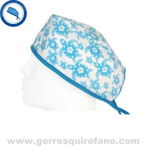 Gorros quirofano tortugas azules 776
