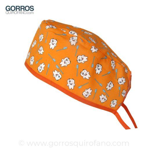 Gorros Dentistas Dental Naranja 786