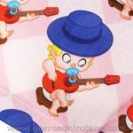 Gorros ginecologas matronas bebes guitarra rosas - 317
