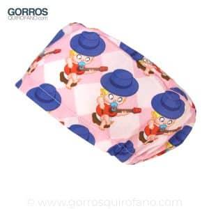 Gorros quirofano matronas bebes guitarra rosas - 317