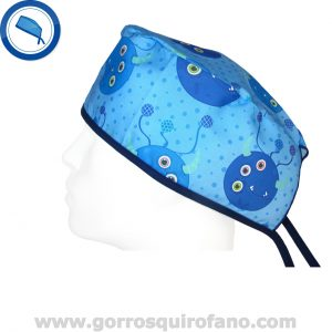 Gorros Laboratorio Divertidos Monstruos Azules Ojos - 798