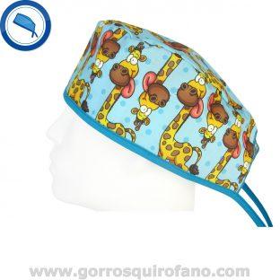 Gorros Quirofano Divertidos Jirafas Lengua - 801